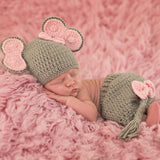 Baby Girl Elephant Hat and Short Set for Newborn Girls