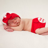 Softball Girl's Visor Hat and diaper cover SET - Newborn Girl
