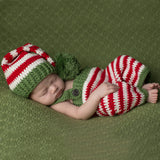 St. Nick Overall and Hat Set for Newborn Christmas Babies
