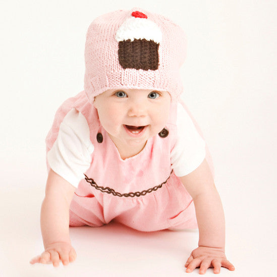 Zooni Sweet On You Baby Girl Cupcake Beanie Hat - Matching Cupcake Mittens Available