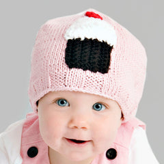 Zooni Sweet On You Baby Girl Cupcake Beanie Hat - Matching Cupcake Mittens Available icon