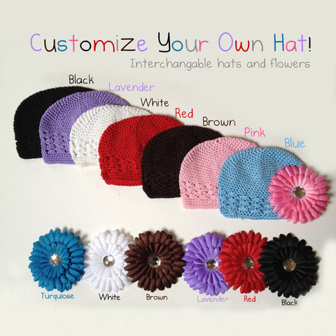 ... Build Your Own Custom Beanie Baby Hat With Mix   Match Flower 9e6c5dc49fe