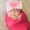 Daddy's Little Girl Newborn Girl Hospital Hat- White or Pink Hat