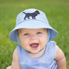 Black Lab Baby and Toddler Boys Blue Sun Hat icon