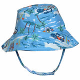 Hawaiian Baby Boy Sun Hat UPF 50 - Baby Boy and Toddler Boy Sun Hat