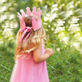 Personalized Pink Felt Crown Baby and Toddler Girls