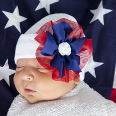 Festive American Girl Flower Newborn Hospital Hat icon