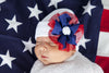Festive American Girl Flower Newborn Hospital Hat