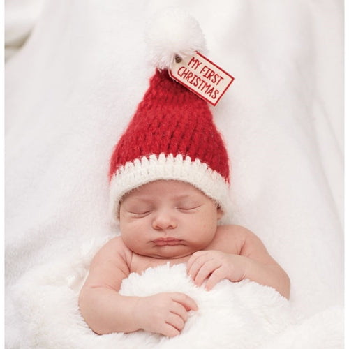My First Christmas Knit Hat for Baby Boys and Girls - Christmastime babies
