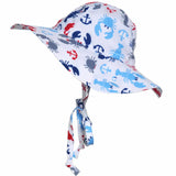 Plymouth Crab and Lobster Boys Sun Hat Nautical Boys Sun Hat