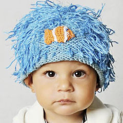Zooni Clown Fish Blue Beanie Baby and Kids Hat icon