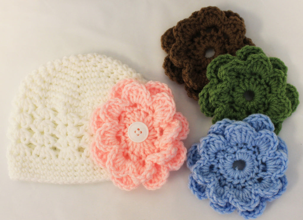 Interchangeable Flower Hat for Baby Girls