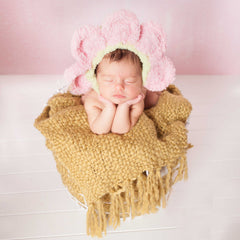 Flower Face Blossom Baby Beanie Bonnet For Newborn Girls icon