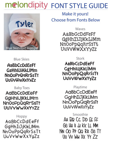 PERSONALIZED Baby Blue Hat and White Pom Pom Newborn Boy Hospital Hat