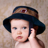 Football Sun Hat - Baby and Toddler Boys - Navy Blue