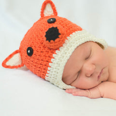 Baby Fox Crocheted Hat icon