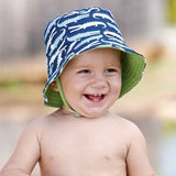 Gator Baby and Toddler Sun Hat - Navy Blue, Light Blue ang Green Lining