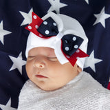 American Girl Polka Dot Bow Newborn Hospital Hat