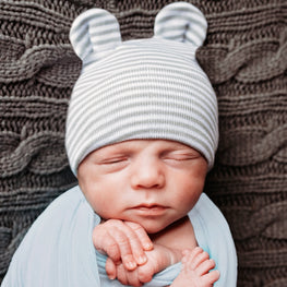 9f491b5f632ec White Personalized Newborn BOY hospital baby hat with BABY Blue Lettering
