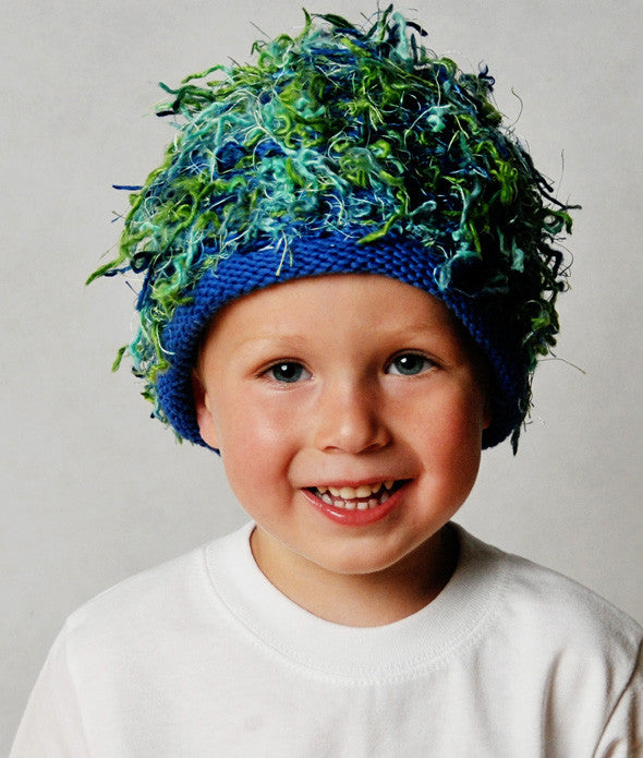 Zooni Blue Grass Boy Beanie for Babies and Kids