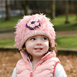 Zooni Flower Power Girl Beanie for Babies and Kids - FULLY LINED IN FLEECE