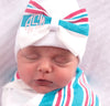Hospital Blanket Monogrammed Bow Newborn Girl Hospital Hat
