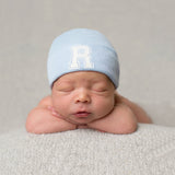 Collegiate Letter Initial Newborn Boy Hospital Hat