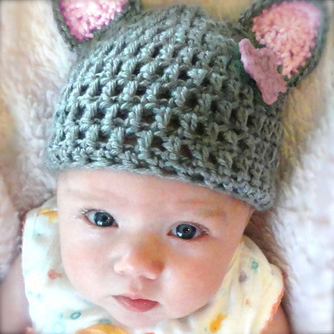 Miss Kitty Baby Girl Hat