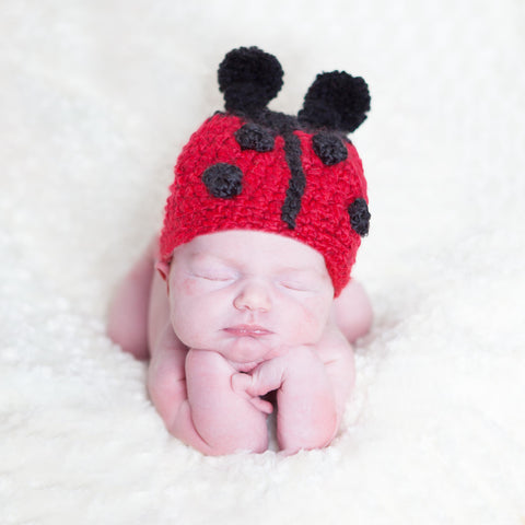 Little Ladybug Baby Girl Hat