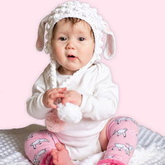 Sweet Little Lamb Baby Girl and Toddler Hat