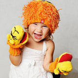Zooni Roaring Lion Hat and Mittens SET - FULLY LINED FLEECE