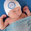 WHITE Little Brother Newborn Boy Hospital Hat