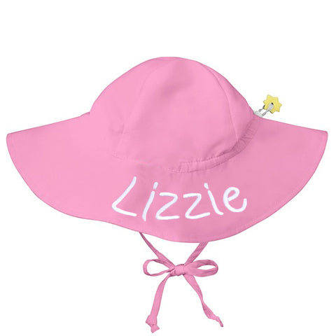 Pink Baby and Toddler Sun Hat with Sun Protection - Personalization Option