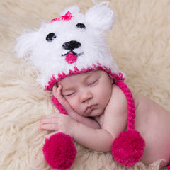 Maisie Maltese Baby Girl Beanie Hat - Puppy Hat Baby Girl icon