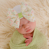 Marigold Bow Newborn Girl Hospital Hat