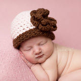 Coco Cotton Candy  Baby Girl Flower Beanie