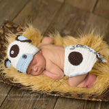 Boy Moo Cow Hat and Diaper Cover Set