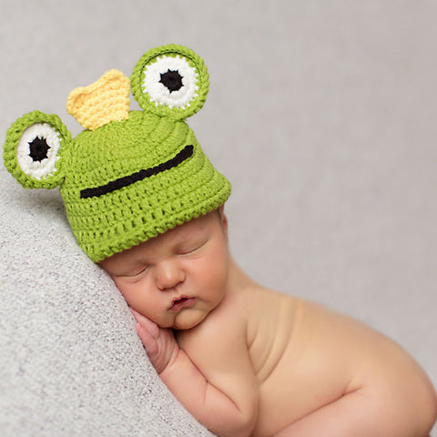 Baby Froggy Prince Hand Knit Crochet Baby Boy Hat New Arrivals