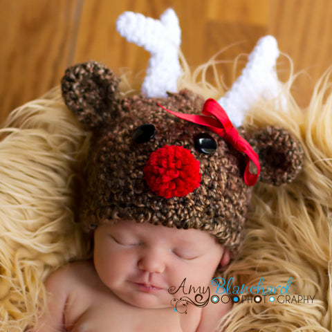 430dbdad8bc ... Ridiculously Cute Baby Reindeer Hat - For boy or girl ...