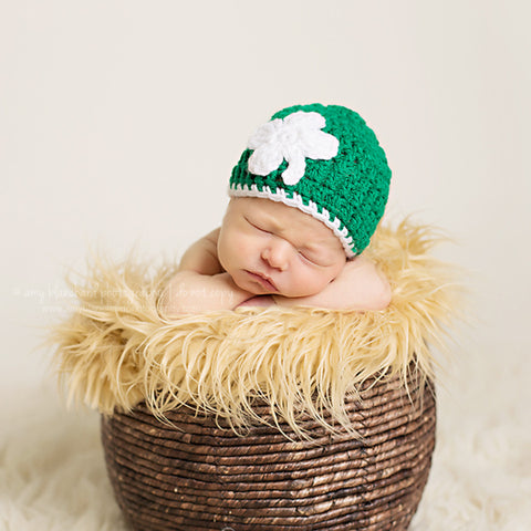 Kiss Me I'm Irish Baby Girl or Boy Beanie Crochet Hat