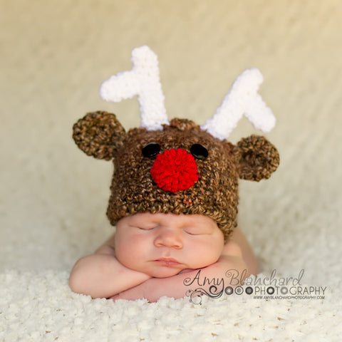 Ridiculously Cute Baby Reindeer Hat For Boy Or Girl