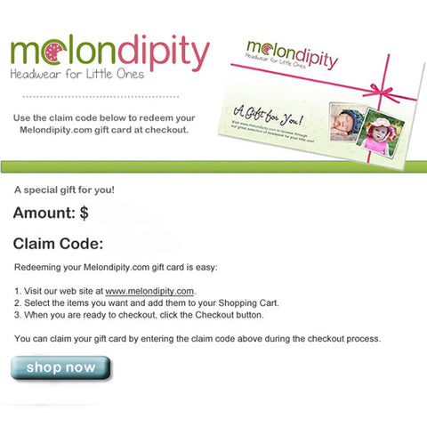 EGift Card - Emailed to Recipient