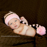 PINK - Oh Baby It's Cold Outside Crochet Baby Hat