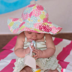 Camellia Floral Print Baby and Toddler Sun Hat with Sun Protection icon