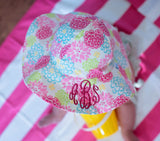 Camellia Floral Print Baby and Toddler Sun Hat with Sun Protection