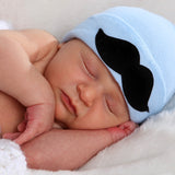 Lil' Man Mustache Newborn Boy Hospital Hat