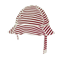 Nautical Red and White Striped Sun Hat icon