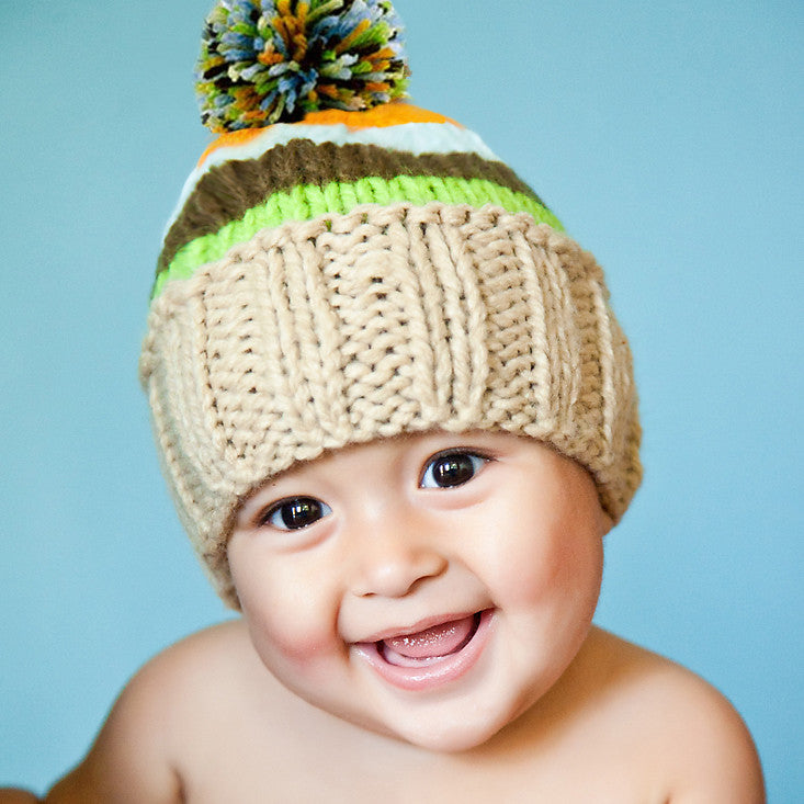 Striped Ollie Baby and Toddler Boy Hat