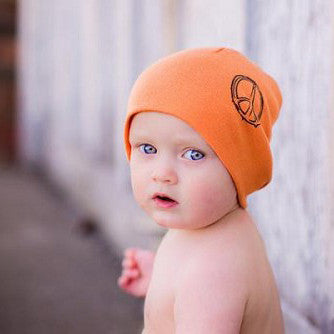 Orange Peace Baby Beanie Hat