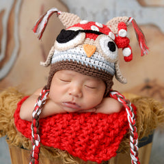 Pirate Patch Owl Baby Boys Hat icon